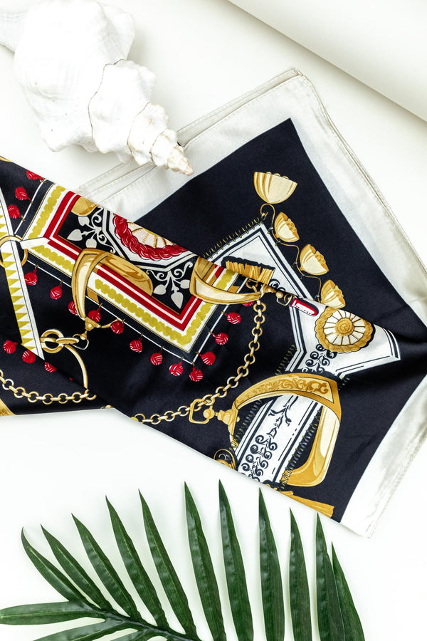 Tide Scarf Black & Gold