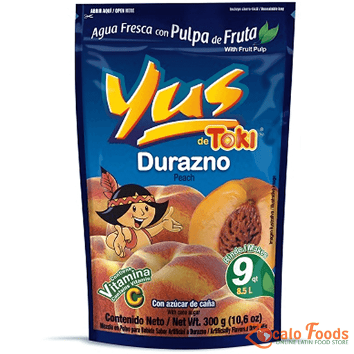 Yus de Toki Durazno (Peach) Drink Mix 10.6oz