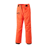Coral snowboard pants for teen girls with side zip and pockets