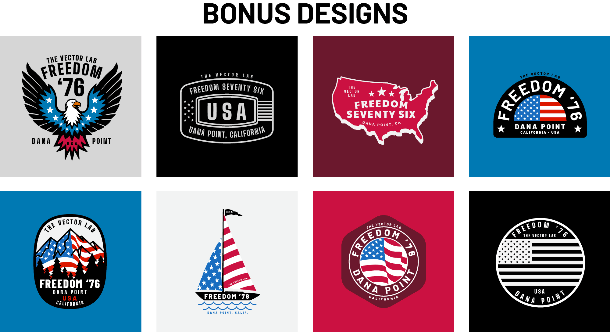 Bonus Freedom 76 Designs