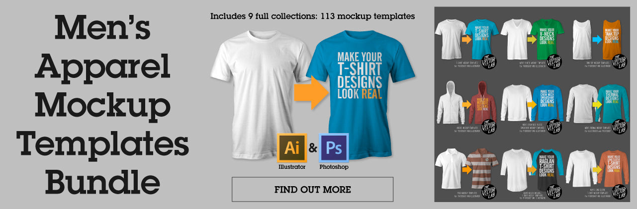 Men's Apparel Mockup Templates Bundle