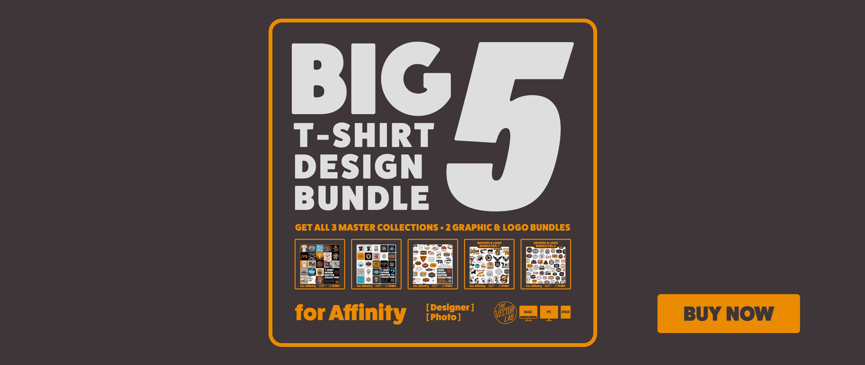 The Big 5 T-Shirt Design Bundle - Affinity