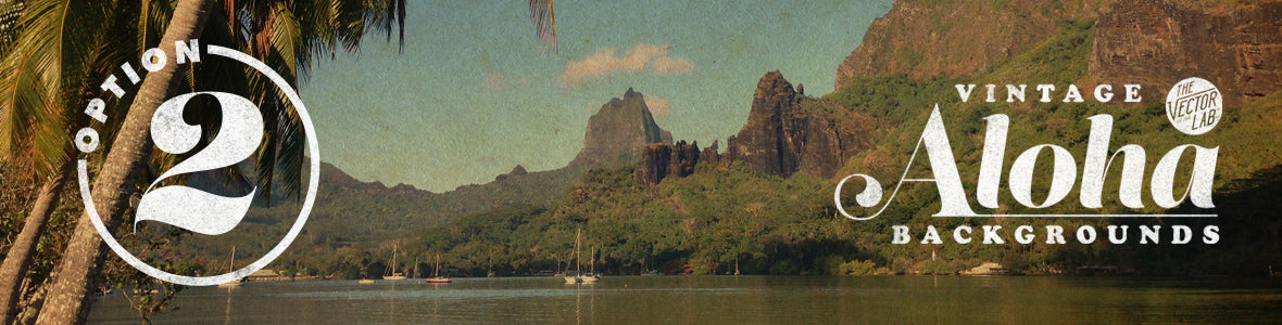 Vintage Aloha Backgrounds for Photoshop
