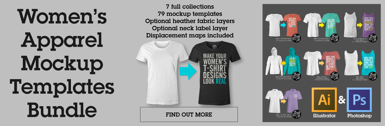 Women's Apparel Mockup Templates Bundle