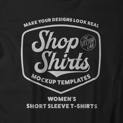 Shop Shirts: Women's T-Shirt Mockup Templates + Backgrounds