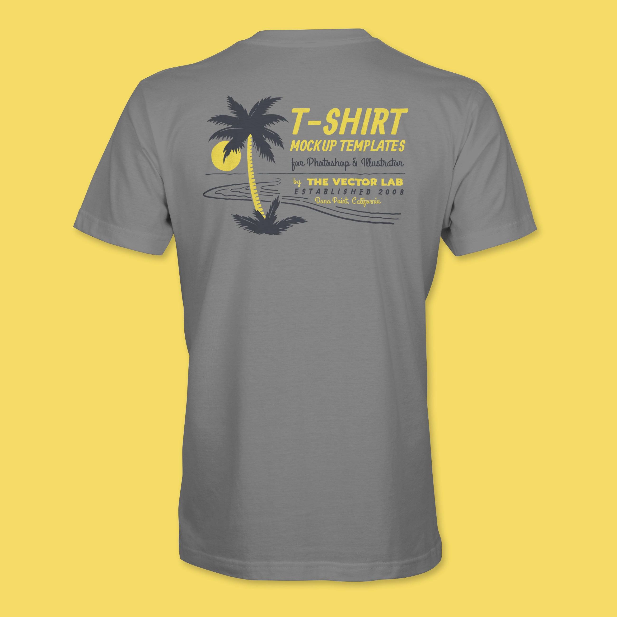 674499ecf ... Men's T-Shirt Mockup Templates for Photoshop and Illustrator ...