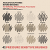 Analog Halftones - Brushes for Photoshop, Affinity, Procreate