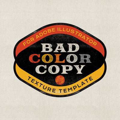 Bad Color Copy Texture Template for Illustrator