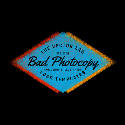 Bad Photocopy Logo Templates for Photoshop and Illustrator