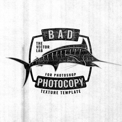 Bad Photocopy Texture Template for Photoshop