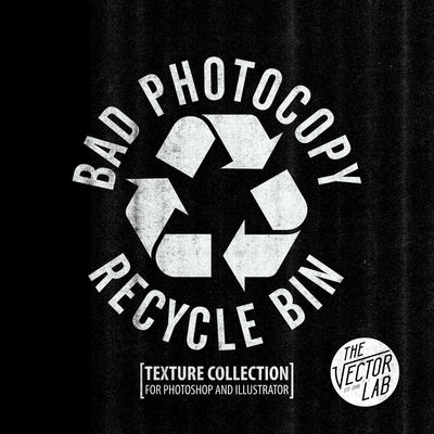 Bad Photocopy Recycle Bin Textures for Photoshop and Illustrator