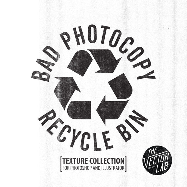Bad Photocopy: copy machine textures for Photoshop and Illustrator