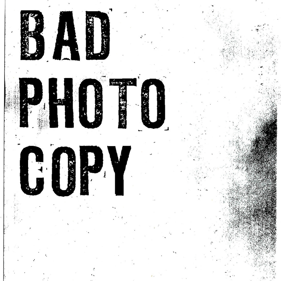 Bad Photocopy Xerox distress texture for Photoshop and Illustrator