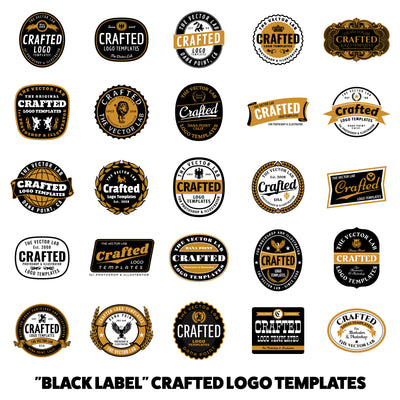 Black Label Crafted Logo Templates - Logo Design Master Collection