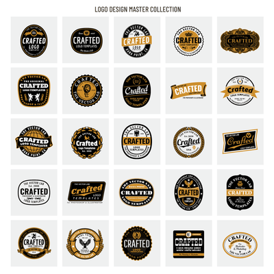 Crafted Black Label - Logo Design Master Collection