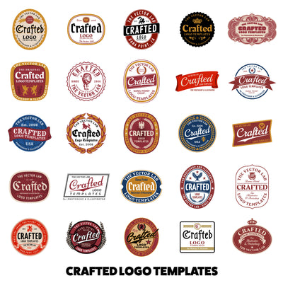 Crafted Beer Labels - Logo Design Master Collection