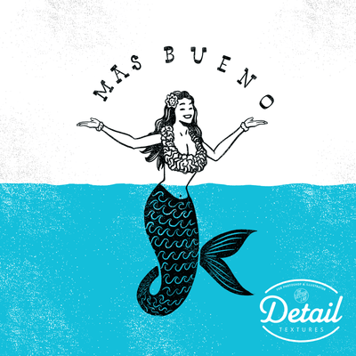 Detail Textures for Photoshop and Illustrator Mermaid