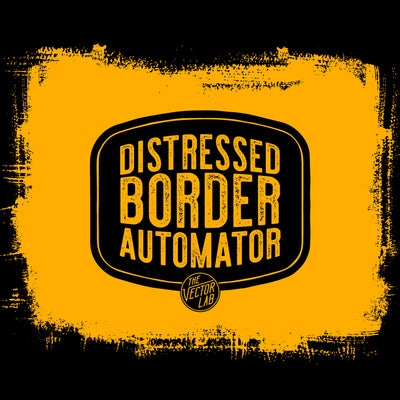 Distressed Border Automator for Photoshop from TheVectorLab