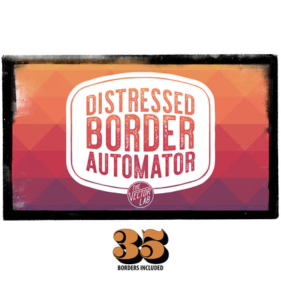 35 Borders - Distressed Border Automator for Photoshop