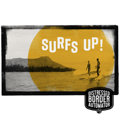 Surf's up! Distressed Border Automator for Photoshop by TheVectorLab