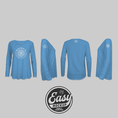 Easy Mockup - Long Sleeve T-Shirt Apparel Templates