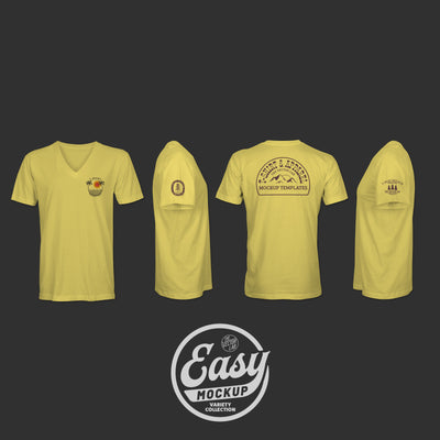 Easy Mockup - V-Neck Apparel Templates