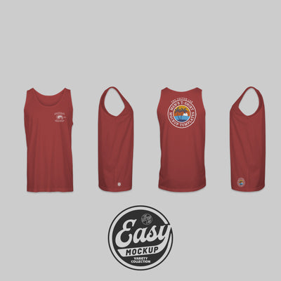 Easy Mockup - Tank Top Apparel Templates