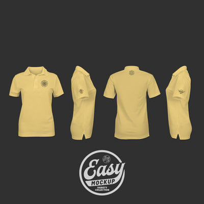 Easy Mockup - Polo Shirt Apparel Templates