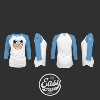 Easy Mockup - Raglan Apparel Templates