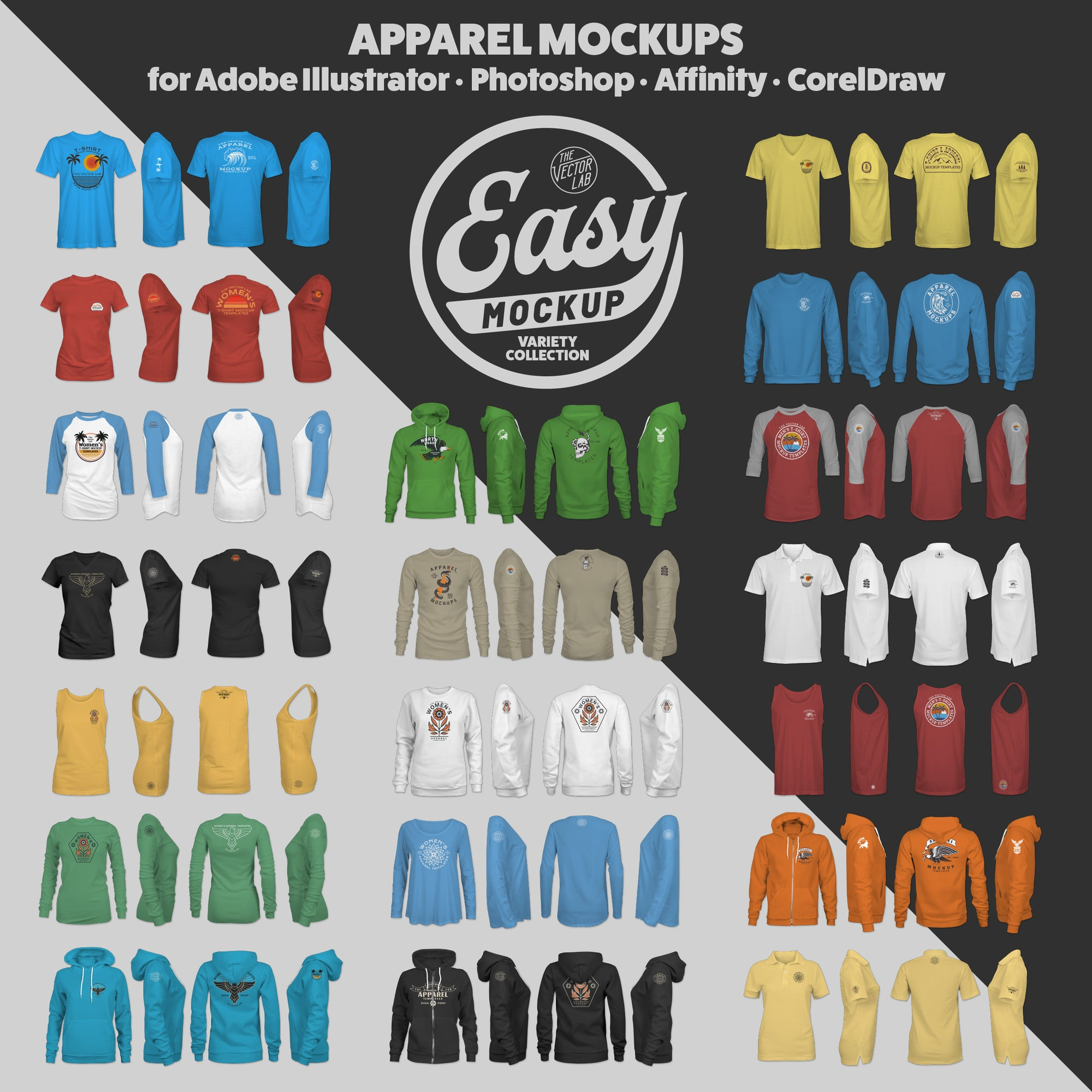 Easy Mockup - T-Shirt Apparel Templates
