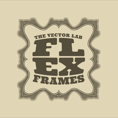 Flex Frames for Illustrator - Apply detailed border designs in a single click.