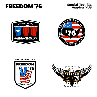 Freedom 76 USA graphic & logo templates for Adobe