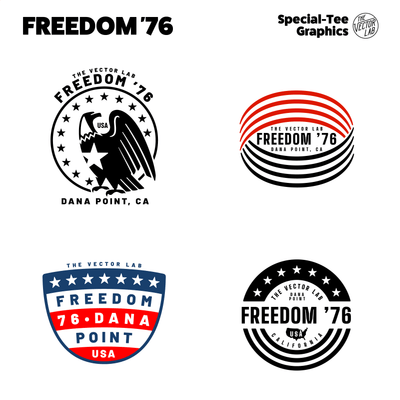 Freedom 76 USA graphic & logo templates for Adobe - Affinity - CorelDraw