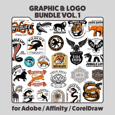Graphic & Logo Bundle Vol 1 - For Adobe, Affinity, CorelDraw