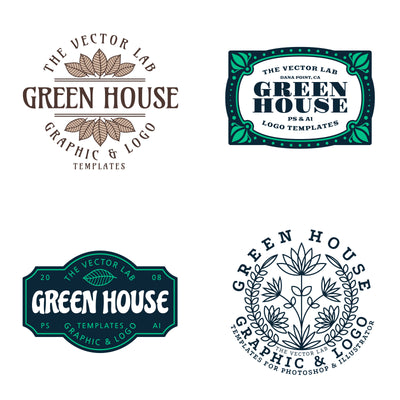 Graphic & Logo Templates - Green House