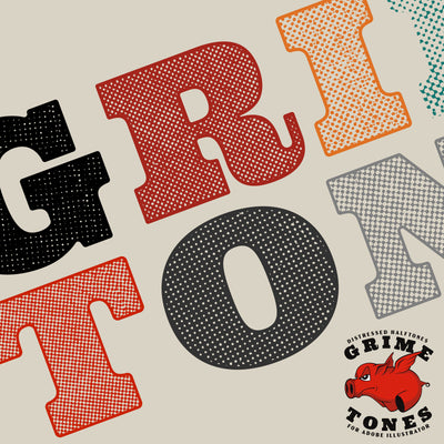 Grime Tones Halftone Textures for Illustrator