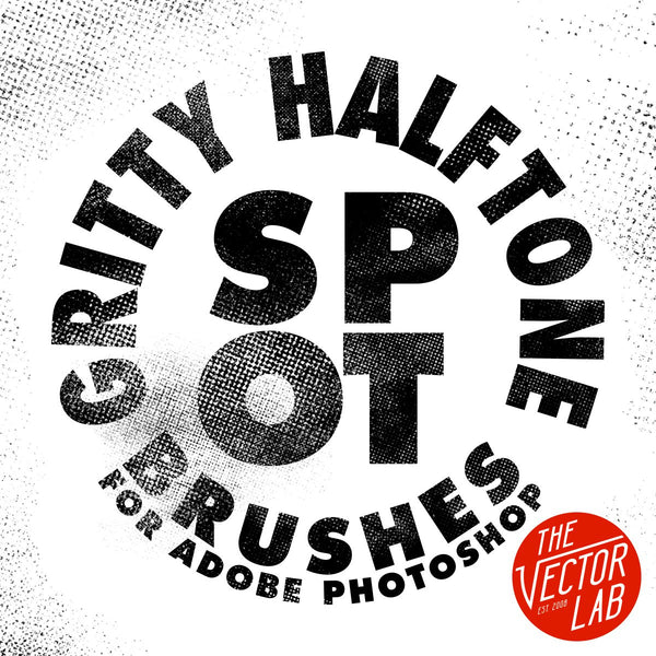 Gritty Halftone Spot Texture Brushes for Photosop