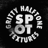 Gritty Halftone Spot Texture Brushes