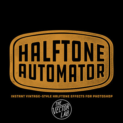 Halftone Automator - Instant Vintage-Style Effects for Photoshop