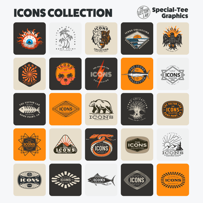 Icons Graphic & Logo Templates for Adobe, Affinity, and CorelDraw