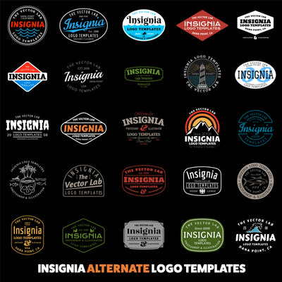 Insignia Alternate Logo Templates - Logo Design Master Collection
