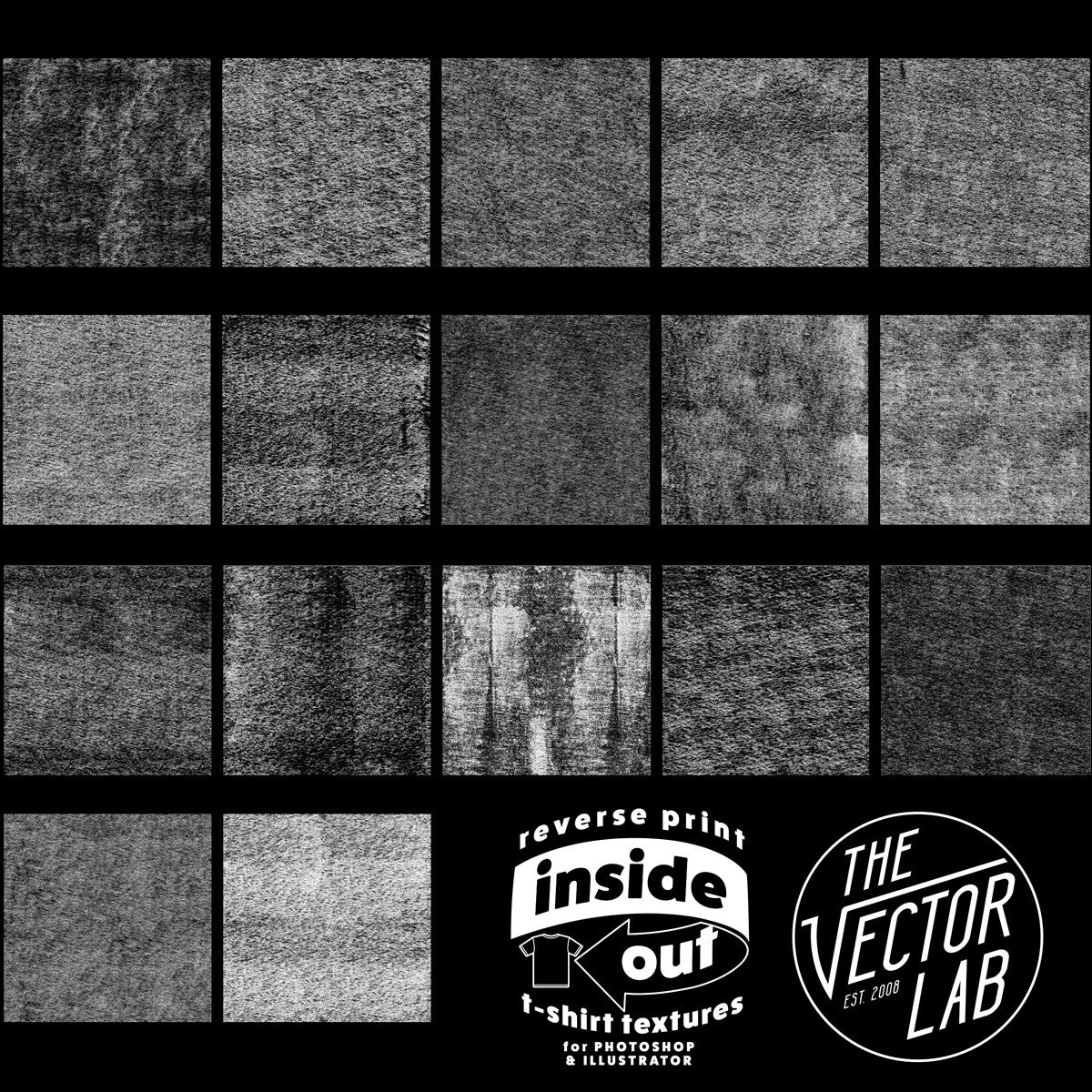 Inside Out: Reverse Print T-Shirt Textures - TheVectorLab