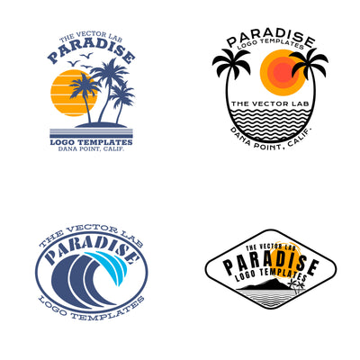 Paradise Logo Templates - Logo Design Master Collection