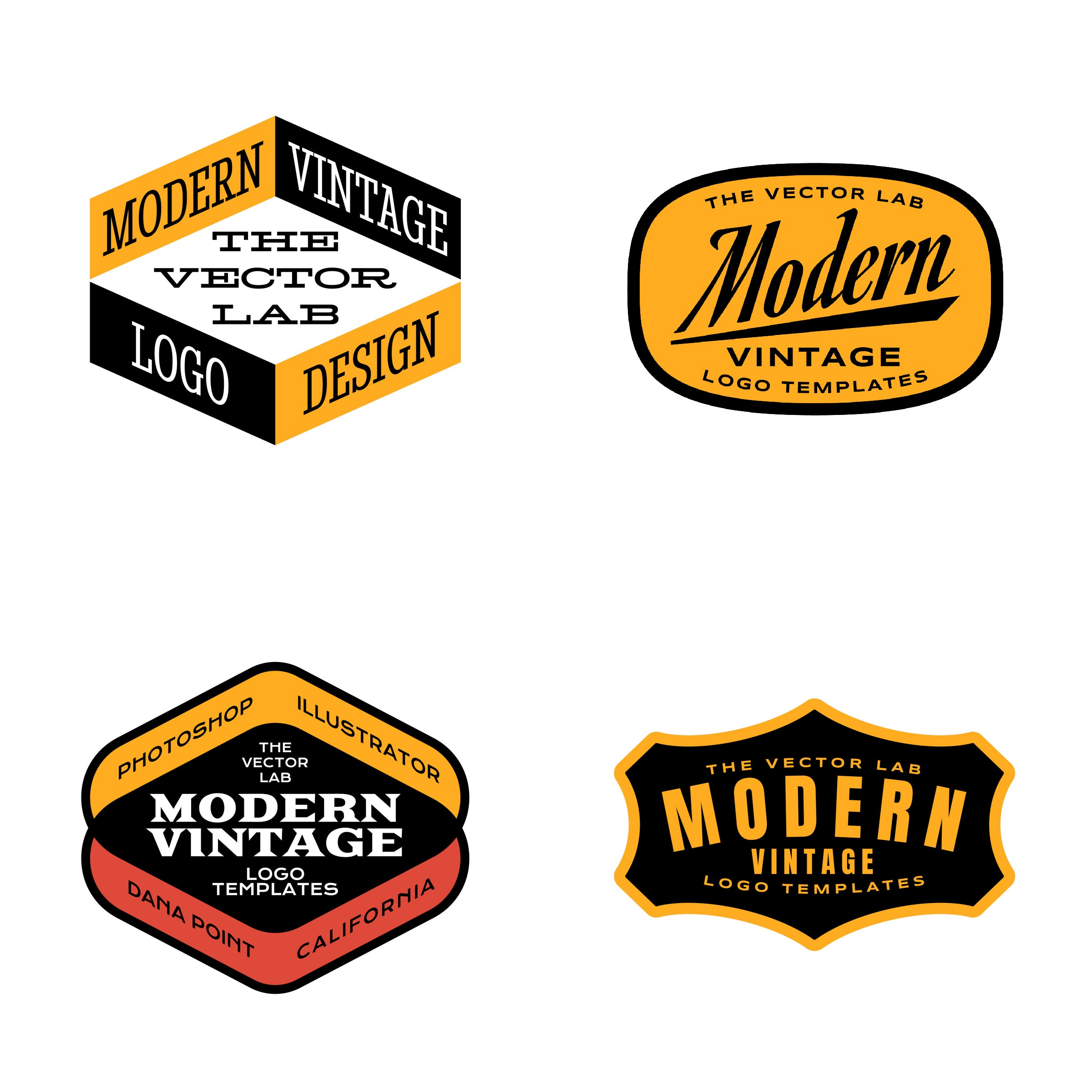 Modern vintage logo design master collection