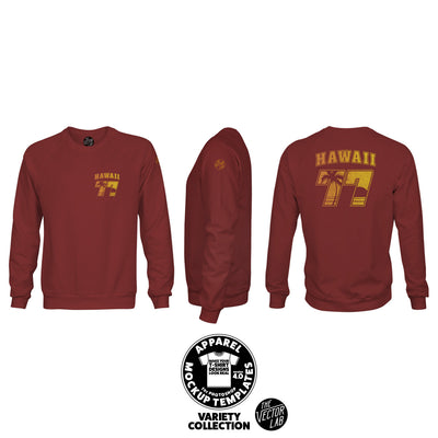 Men's Crew Neck Sweatshirt Mockup Templates for Photoshop