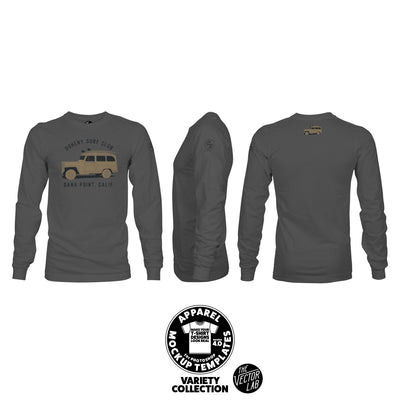 Men's Long Sleeve T-Shirt Mockup Templates for Photoshop