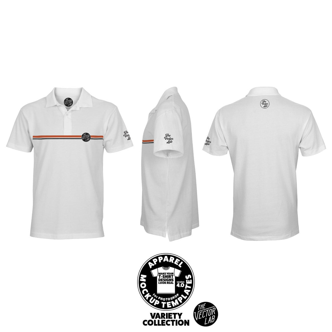 Men's Polo Shirt Mockup Templates for Photoshop