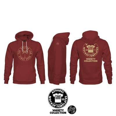 Men's Pullover Hoodie Mockup Templates for Photoshop