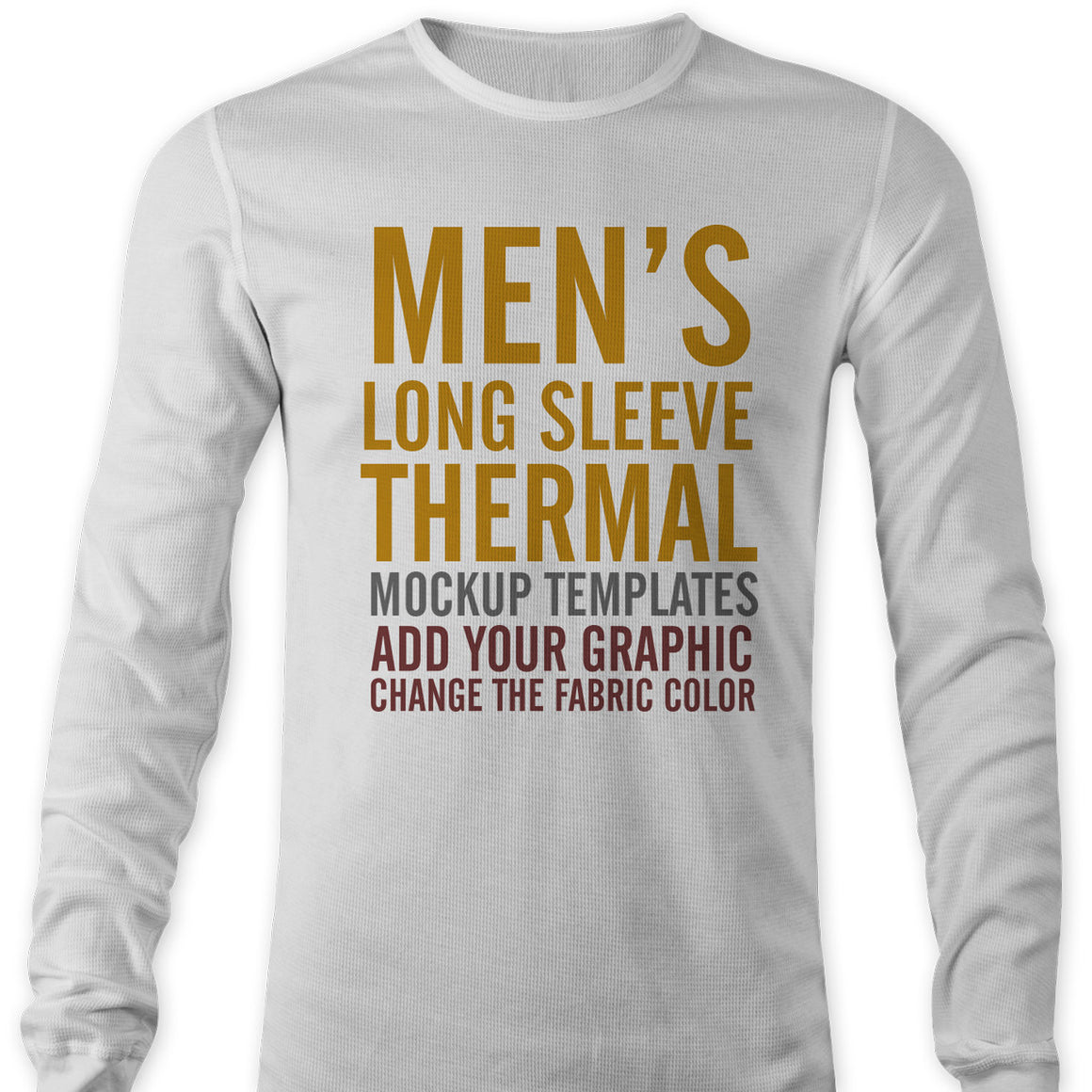Men's Thermal Long Sleeve Shirt Mockup Templates for Photoshop
