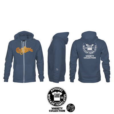 Men's Zipper Hoodie Mockup Templates for Photoshop